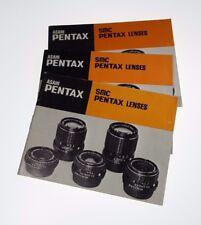 Pentax 35mm Smc Lenses (Instructional Booklet) 1979-1980