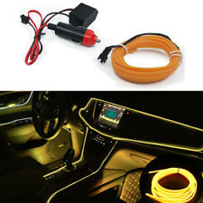 3M Car LED EL Wire Cold Light Line Neon Lamp Interior Atmosphere Strip Yellow