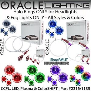 ORACLE Halos for Headlights & Fog Lights for 06-10 Hummer H3 & H3T *All Colors