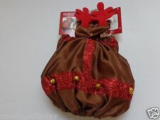 CHRISTMAS  HOLIDAY PUPPY  DOG COSTUME 2 PIECE REINDEER COSTUME WITH  EARS