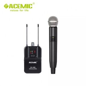 UHF Wireless Handheld Microphone Mic for DSLR Camera Camcorder Interview Record