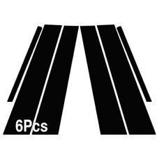 Glossy Black B C Pillar Post Decal Sticker Molding 6P For KIA 2011-15 Optima K5