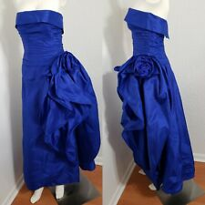 Vintage Tracy Mills Blue Evening Dress Ball Prom Homecoming Gown