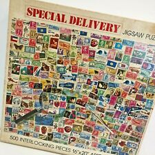 VTG Special Delivery Collectible Puzzle Vintage Stamps 1978 500 Pc Nordevco USA