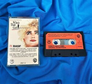 MADONNA RARE PHILIPPINES WHO'S THAT GIRL OST CASSETTE TAPE US 1987 BASF ORANGE