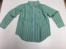 orig. Ralph Lauren Polo Hemd, langarm, Gr. 4T / 4 grün weiss blau wie neu