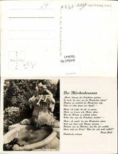 560843,Foto Ak Düsseldorf Märchenbrunnen Springbrunnen Text Heinz Heil