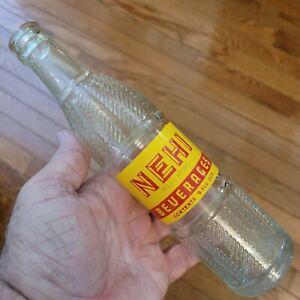 NEHI Florence South Carolina 1956 Soda Bottle 9 oz Red on Yellow Pat Mar 3, 1925