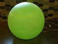 Vintage 60's Green White MCM Mod Retro Pop Art Molded Plastic GLOBE Table Lamp