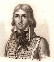 Portrait XIXe François Séverin Marceau Révolution Française Chartres 1818