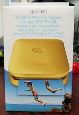 Brand New Sealed HP Sprocket 100 Instant Photo Printer 2 x 3 in Gold Color