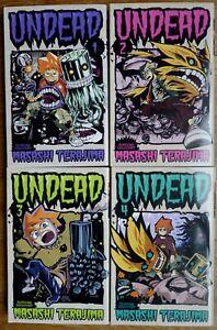 4 mangas série complete undead en EO Française ETAT NEUF