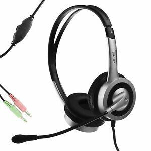 Headphone Headset with mic for Chromebook Dell Lenovo Computer Laptop PC Desktop