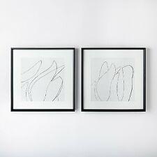 (Set of 2) 24 x 24 Sketch Art Print Black/White