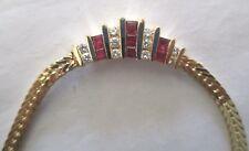 "14K Gold Diamond & Ruby Necklace Dia=1/2 Carat F-VS1 TCW=1.25 Carats 16"" Long"