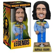 "FUNKO BOB MARLEY /WACKY WOBBLER BOBBLE HEAD BUFFALO SOLDIER 19 CM-7,5"" IN BOX"