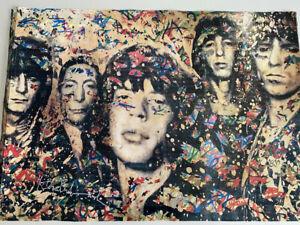Mr Brainwash Large Rolling Stones print / Poster