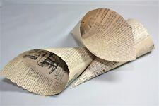 20 Confetti Cones, with a vintage newspaper print design, Newsprint