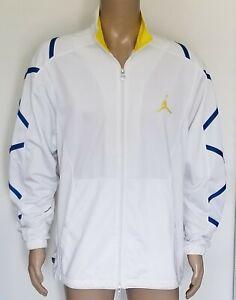 Men's Air Jordan Jumpman Full-Zip Basketball Track Jacket White Size Large L