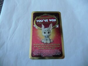 Morrisons Disneyland Paris 20th Anniversary Collection Thumper Soft Toy Won Card