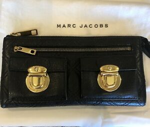 💯 Authentic Marc Jacobs Black Leather Ladies Wallet