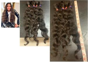 Human Hair Cut 16-20 Inch From Young Male Model In 20s, Virgin Black Curly Hair
