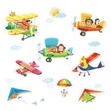 Decowall Animals Airplanes Nursery Kids Removable Wall Stickers Decal DA-1506BC