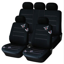 Universal Car Seat Covers Set Vehicle Front Seat Back Seat Cover Headrest Covers