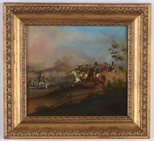 """King Friedrich II of Prussia and General Zieten at the battlefield"" oil, 1790s"