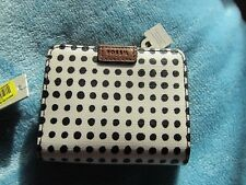 NWT Fossil Emma Mini Multi white/black grid dot msrp 45$