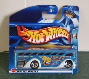 Hot Wheels Surfin' School Bus Beebops Blue #149/220 2003 HW Work Crewsers New