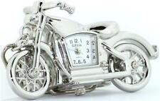 NEW GENEVA 3D SILVER TONE+WHITE DIAL MOTORCYCLE KEY CHAIN RING, FOB WATCH