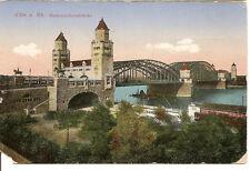 Köln um 1910 Hohenzollernbrücke,Hauptbahnhofseite, Straßenbahn farbige PK,AK