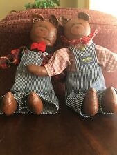 Lot of 2 Hand Painted Bear Dolls