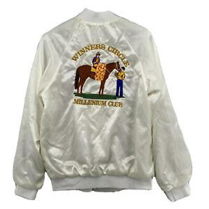 Vintage Bomber Jacket 1,000 Wins Jockey New York Racing Association Made in USA