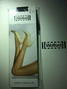 "Wolford Medium Black ""Satin Touch 20"" Socks- Sheer Luxury Short Socks"
