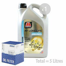 Engine Oil and Filter Service Kit 5 LITRES Millers XF Longlife C2 5w-30 5L