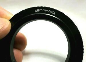 49mm Macro Close-Up Reverse Lens Adapter Ring For Sony E-Mount ILCE camera α6500
