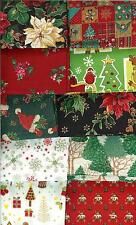 HUGE LOT CHRISTMAS FAT QUARTERS (25) - NO DUPLICATES - FREE SHIPPING