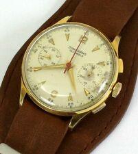 Rare Vintage Chronograph Junghans Kal. J88 Flieger Schaltrad zivile Variante