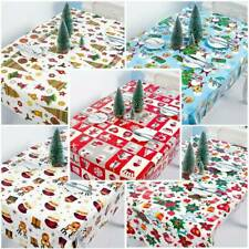 Christmas Red White Tablecloth Polyester Table Cloth-Xmas Party Catering Dining.