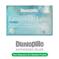 GENUINE DUNLOPILLO 2 Pack Classic Medium Profile & Feel Latex Pillow RRP $279.95