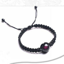 Women's Natural Crystal Rainbow Obsidian Stone Bead Braided Rope Bracelet Gifts