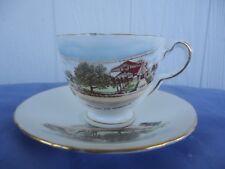 vintage gold coast southport souvenir cup & saucer delphine england