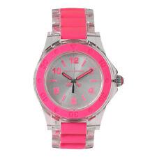 New Juicy Couture Rich Girl Clear Pink Plastic Bracelet Quartz Watch 1900867