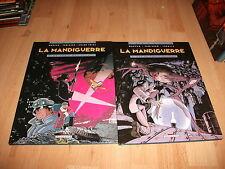 ALBUM BD LA MANDIGUERRE lot 2 titres 1 & 2 en eo  MORVAN TAMIAZZO delcourt