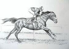 JOHN HENRY- Racing Action Art- ORIGINAL PRINT **Free Shipping**