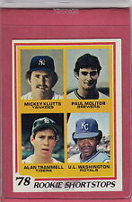 1978 Topps #707 Molitor/Trammell rookie NM-MT no creases sharp card BV $50