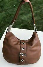 Luis Esteve Brown Leather & Silver Hardware Handbag Purse