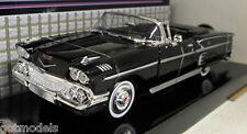 Motormax 1/24 Scale 73200AC 1958 Chevy Impala Black Diecast model car
